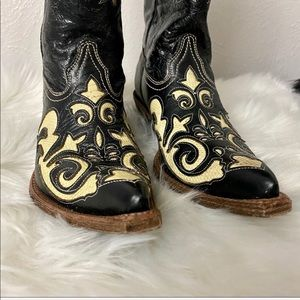 🆕 Corral Black Leather Western Boots - Sz 6.5